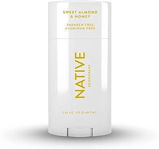 Native Deodorant - Natural Deodorant for Women and Men - Vegan, Gluten Free, Cruelty Free - Aluminum Free, Free of Parabens & Sulfates - Sweet Almond & Honey