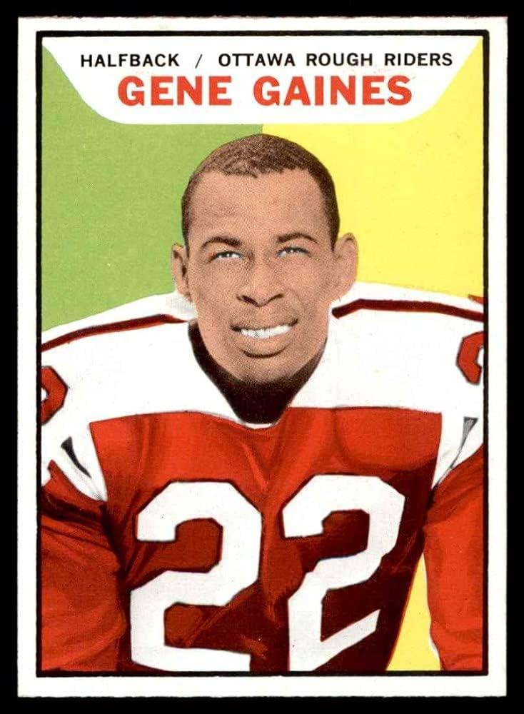 1965 Topps # 1 year warranty 78 Gene Football Riders Gaines Ranking TOP5 Ottawa Rough