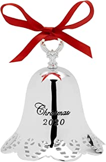 """Towle 2020 41st Edition Annual Pierced Bell - Candy Cane Border Ornament 3.25"""""""