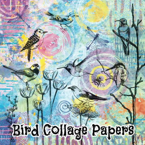 Bird Collage Papers: 40 Gorgeous Unique Sheets Featuring Birds For Mixed Media Art, Junk Journals & Scrapbooks (Enchanted Series)