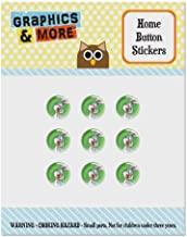 Looney Tunes Bugs Bunny Set of 9 Puffy Bubble Home Button Stickers Fit Apple iPod Touch, iPad Air Mini, iPhone 5/5c/5s 6/6s 7/7s Plus