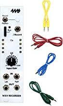 4MS Company WAV Recorder Eurorack Module w/ 4 Cables and Polish Cloth