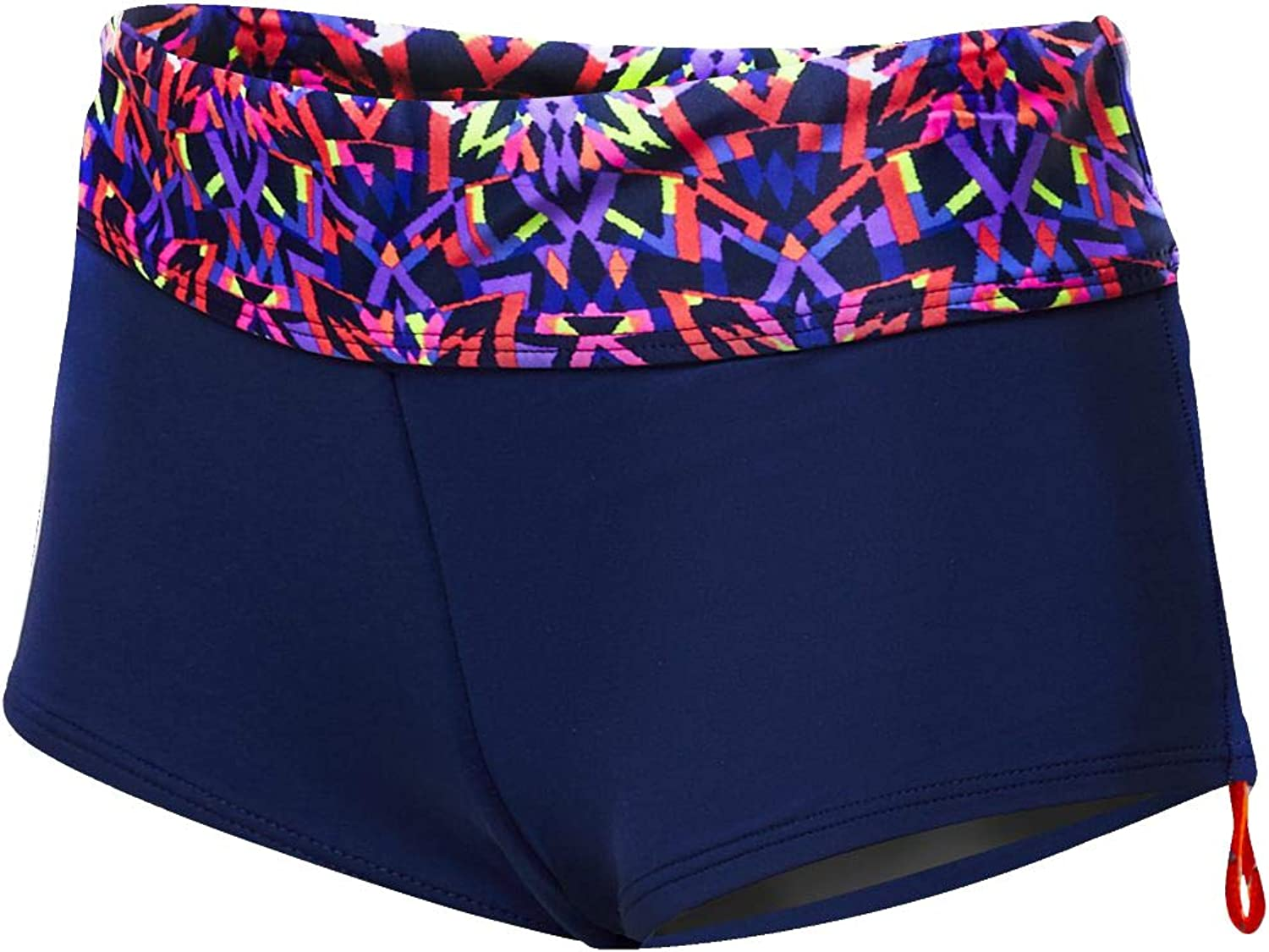 TYR Della Boyshort-Carnivale, Navy Multi, Small