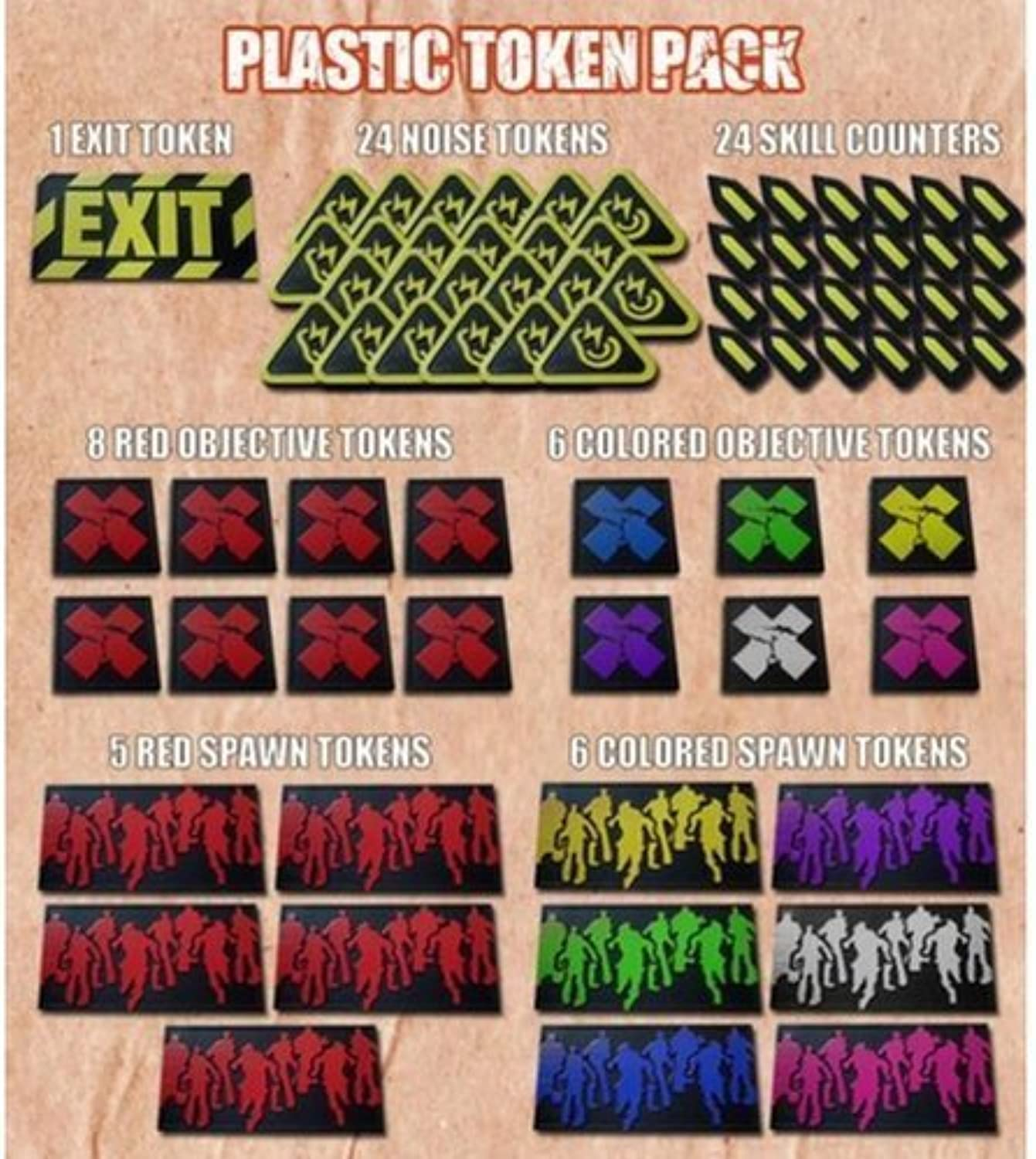 Zombicide Plastic Tokens by Unknown
