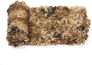 STTHOME Malla de Camuflaje Lona Poliéster Oxford Reforzado Grande Red de Camuflaje Malla de Sombra Marrón para Sombrilla C...