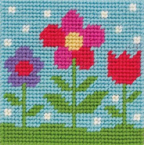 Anchor First Tapestry Kit - Plantilla para aprender a coser, diseño de flores