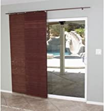 Lewis Hyman 0224114 Flat Stick Panel Track Shade, 78-Inch Wide by 84-Inch Long, Mahogany