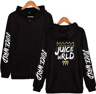 Flyself Unisex Juice Wrld Hoodie Zipper Hoodie Pullover Hip Hop Hooded Sweatshirt Top Men Women Teen