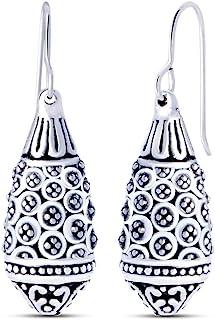 Charmsy Plata Textura Pendiente Dangler electroform Gota de Plata esterlina joyería para Las Mujeres 38 mm