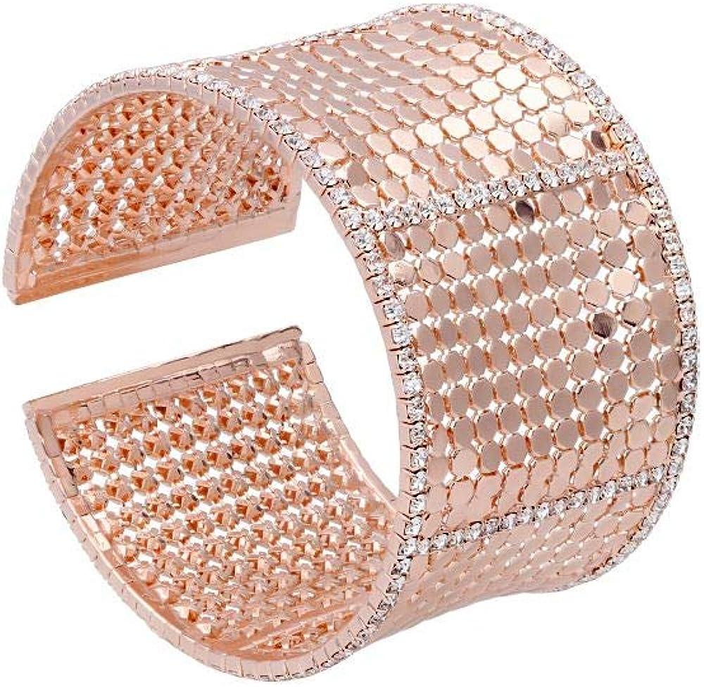 Stroili bracciale bangle per donna con strass in metallo rosato 1666128