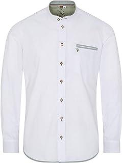 Spieth & Wensky Slim fit - Herren Trachten Hemd mit Stehkragen, Nori 340432-1374