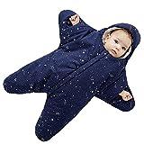 Bebé Saco de dormir 0-8 Meses Personalizado Diseño Forma de estrella Cremallera Frente Azul