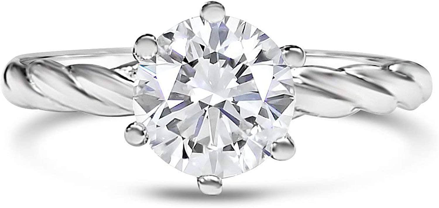 1 CTW Moissanite Engagement Ring for Simulated Women Diamond Pro Cheap Max 77% OFF