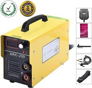 ARC 200 IGBT Inverter Welder 110v Inverter Welding Machine - 200 AMP Welding Machine Mini Welder Suit 1.2-3.2 MM Welding Rod Equipment with Accessories Tools (110V)