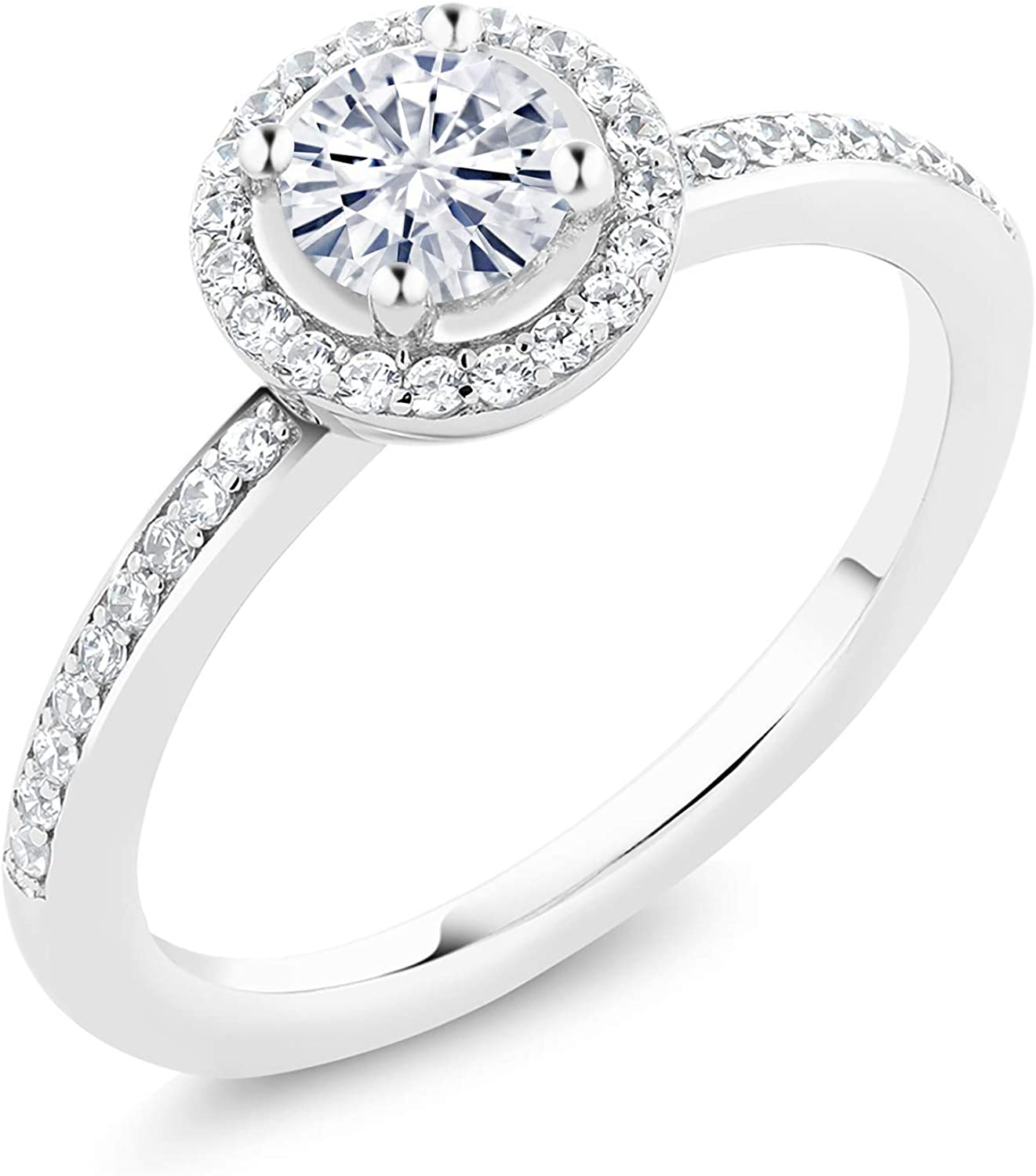 925 Sterling Silver Solitaire Tulsa Mall Created Sales Charles by Moissanite Co