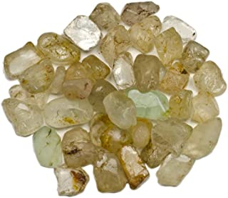 Hypnotic Gems Materials: 1 lb Rough Bulk Topaz Stones from Brazil - Raw Natural Crystals for Cabbing, Tumbling, Lapidary, Polishing, Wire Wrapping, Wicca & Reiki Crystal Healing