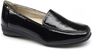 b0a28a0e16e5 Scarpe basse da donna in pelle, con pianta larga, scarpe da lavoro comode e