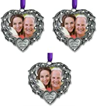 BANBERRY DESIGNS in Memory Photo Ornament - Always in My Heart - Angel Wings Picture Christmas Ornament with a Remembrance...