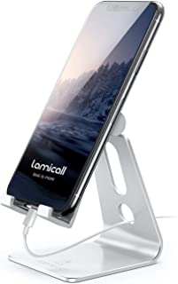 Lamicall Adjustable Phone Stand, Phone Holder: [Update Version] Mobile Phone Dock Compatible with iPhone 12 11 X XR XS 8 7...