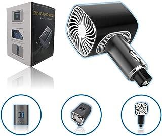 FunnyBubble Car Air Purifier | 3 in 1 | Premium Ionizer/Freshener | Eliminate Odor, Smoke, Pollutants | 2 USB Fast Charge Ports | Emergency Glass Window Breaker