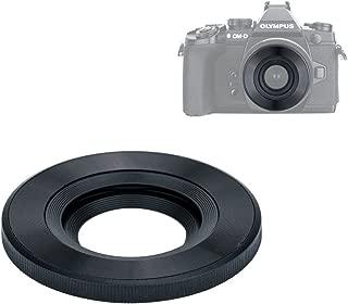 JJC Auto Open and Close Lens Cap for Olympus M.Zuiko Digital ED 14-42mm EZ Lens Used on OM-D E-M10 III/E-M10 II,etc & Panasonic Lumix G Vario 12-32mm ASPH Lens Used on DMC-GX85/DMC-GX850,etc - Black