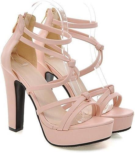 XIE zapatos de Dedo del pie Abierto del Tacón Alto La Correa Fina Atractiva de la Correa ata con Correa la Hembra de Las Sandalias