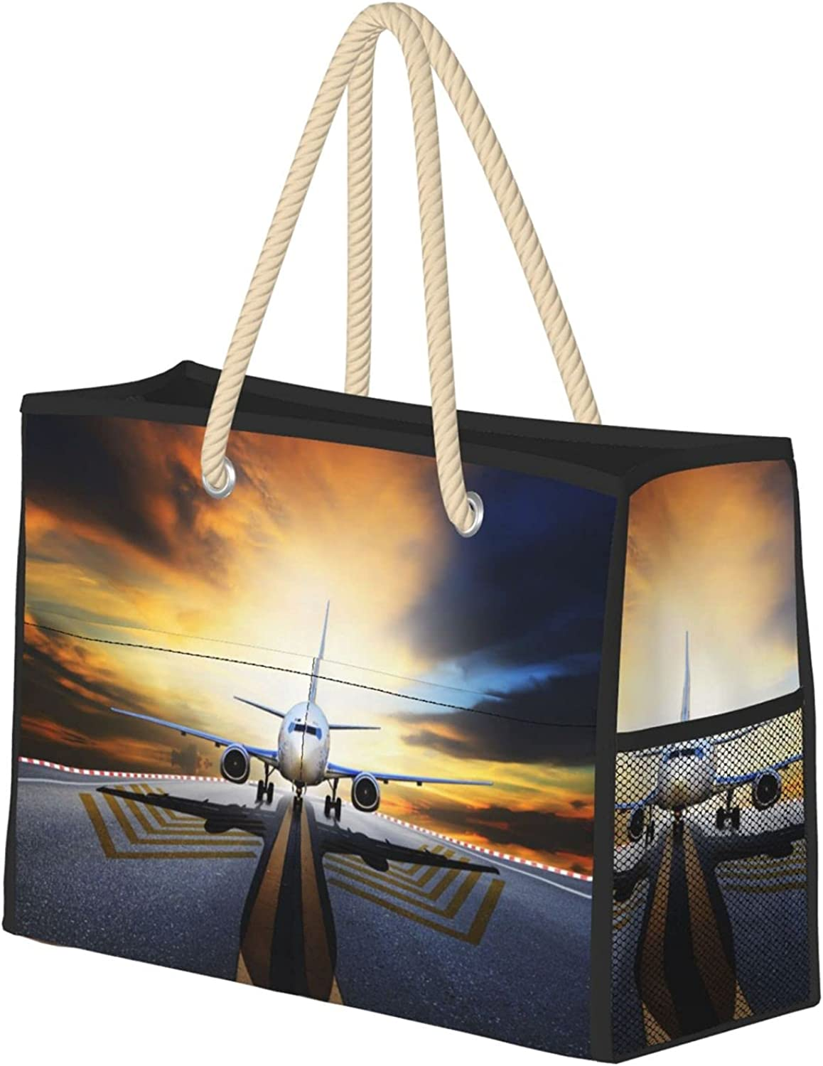 Airport airplane Beach Chicago Mall Bag Foldable Large 5 ☆ very popular Extra Tote