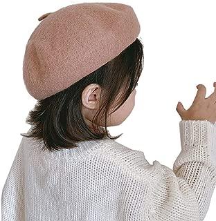 COMVIP Baby Solid Wool Beret Hat Girls Outdoor Warm Winter Beanie Hat
