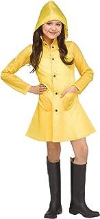 Girls Yellow Raincoat Costume