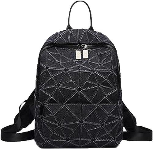 ADEMI Nouveau Style Géométrie Couture Triangle Sac à Dos Loisirs Sac De Voyage Mode