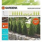 Gardena 13011-20 Set de Inicio para hileras M: Sistema jardín Micro-Drip para un riego Que Ahorra Agua y Protege Las plantaciones en Fila, Negro