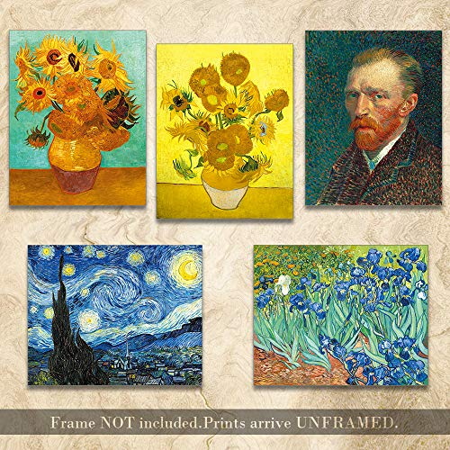 Starry Night Art Posters Van Gogh Canvas Wall Art, Painting Van Gogh Art Prints