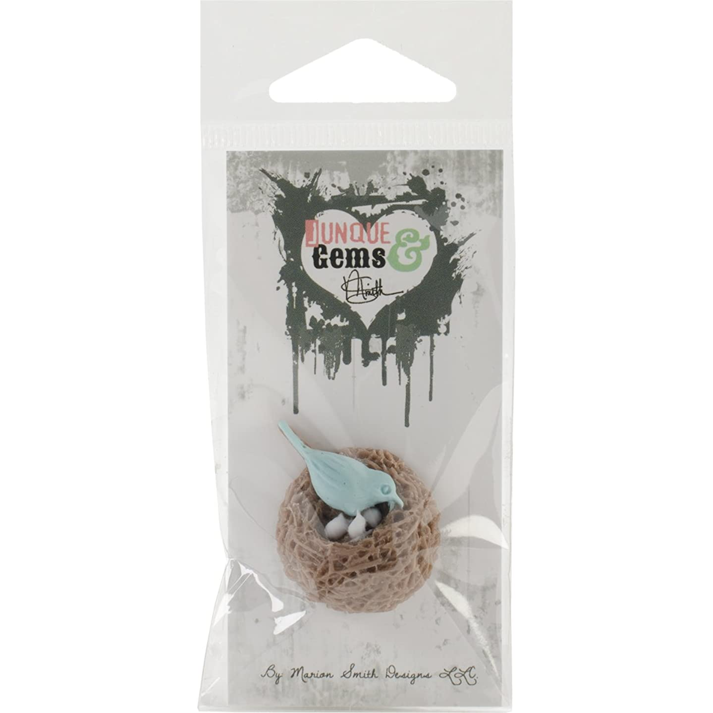 Marion Smith Designs MS101051 Junque and Gems Bird's Nest Resin Shape