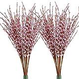 Famibay - Flores Artificiales de jazmín de Invierno, 20 Unidades, Flores Falsas de Polietileno para decoración del hogar, Bodas, Fiestas, PE, Pink-01, Paquete de 20