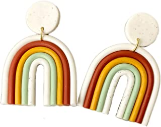 statement earrings Mother/'s Day Gift Polymer clay earrings minimalist clay earrings geometric earrings double arch earrings