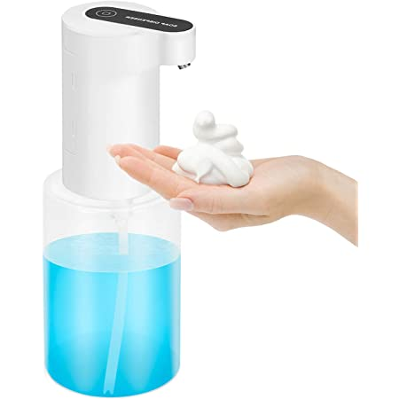 Lemnoi - Dispensador de jabón automático de 350 ml, Espuma sin Contacto con Sensor infrarrojo, dispensador de jabón de Espuma eléctrico para baño y Cocina