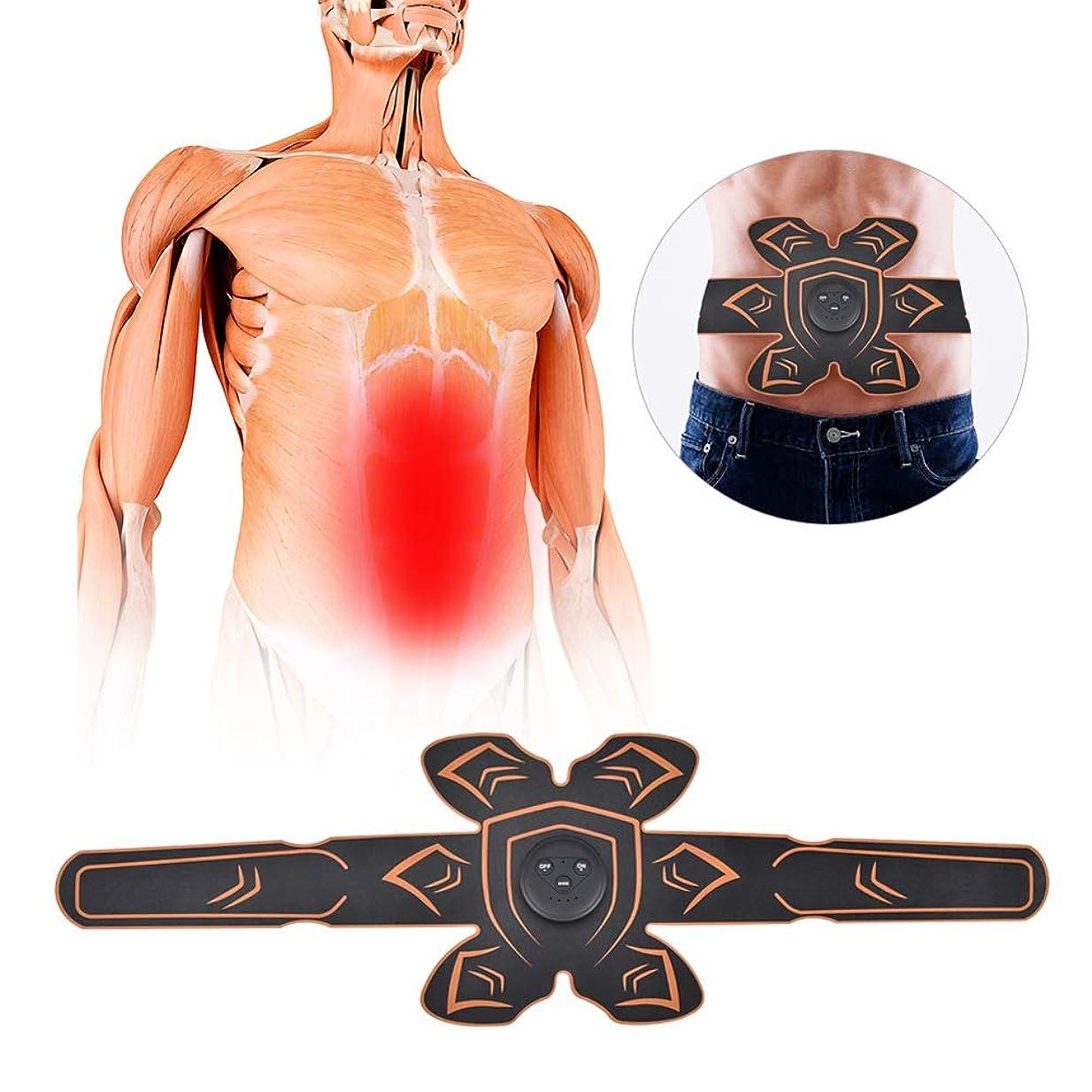 印刷する共産主義者程度腹部刺激装置、EMS男性および女性の腹部調整ストラップ、腕と脚のトレーナー、オフィス、ホームジムのフィットネス機器