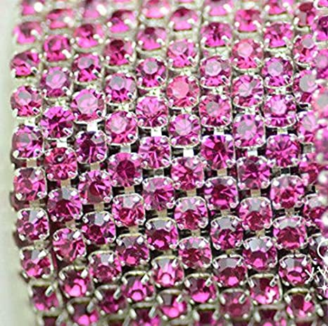 Pink Rhinestone Bling Domino Necklace
