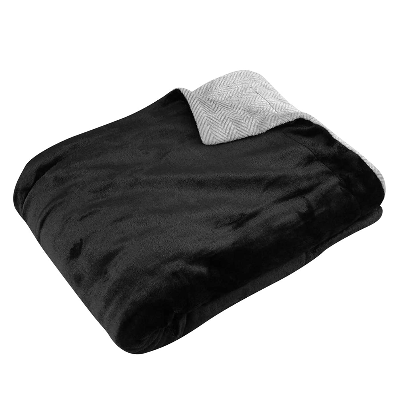 意志に反する異常減らす吸湿発熱 なめらかフランネル 2枚合わせ毛布 ダブル 180×200cm (ブラウン)