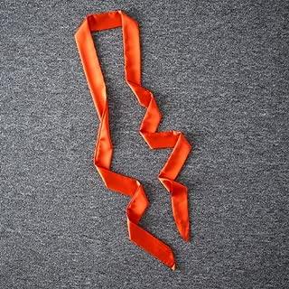 LONFENNE Women Spring Narrow Long Scarf Multifunctional Tie Belt Satin Solid Color Scarf Scarf,Super Long Scarf Orange