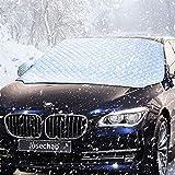 IREGRO Protector para Parabrisas Protección de Capa 3 Invierno Verano Ventana Cubierta Sombrilla Nieve Cubiertas con 2 Cubiertas de Nieve de Espejo, Tamaño Grande para Más Coche, SUV (158 x 120 cm)