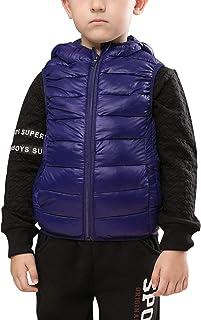 e9ccb614b liangfeng - Chaleco Encapuchado Invierno para Niños Unisex 5-12 años Abrigo  Outwear Acolchado Caliente