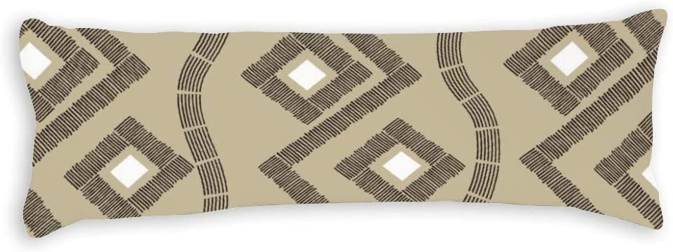 Abstract Stripe Body Pillow Covers Memphis Mall 20 54 with Zipper x 1 year warranty Pill