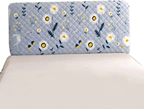Bed Head Cover Board Cover Polyester Fiber Elasticity Bed Head Protector Slipcover Solid Color Bedroom Decoration (Color :...
