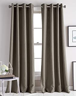 DKNY Avenue Jacquard Grommet Window Curtain Single Panel