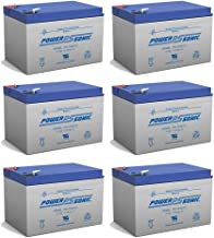 BATTERY REPLACEMENT for POWER-SONIC PS-12120F2 PS-12120 F2,12V 12AH EA. - 6 Pack