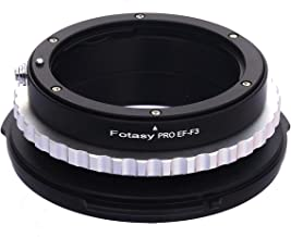 Fotasy F3EF Pro Canon EOS EF/EF-S Lens to Sony FZ Mount Camcorder Camera Adapter for PMW-F3, PMW-F5, PMW-F55, PMW-F65 (Black)