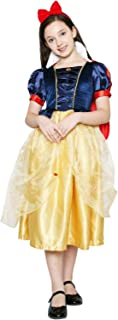 Girls Snow White Princess Costume Dress Snow Queen Princess Elsa Anna Costumes
