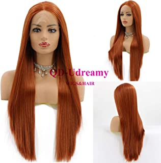 copper color lace front wig