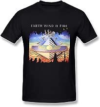 Men's Earth Wind & Fire Music Band Short Sleeves T-Shirt Gift Black